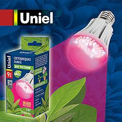 светодиодная лампа UNIEL LED-A60-9W для растений