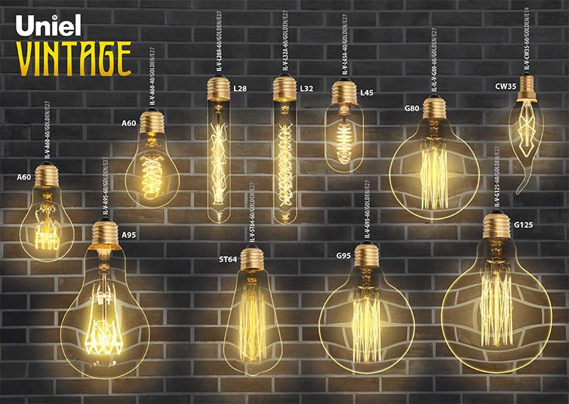 декоративные лампы VINTAGE UNIEL